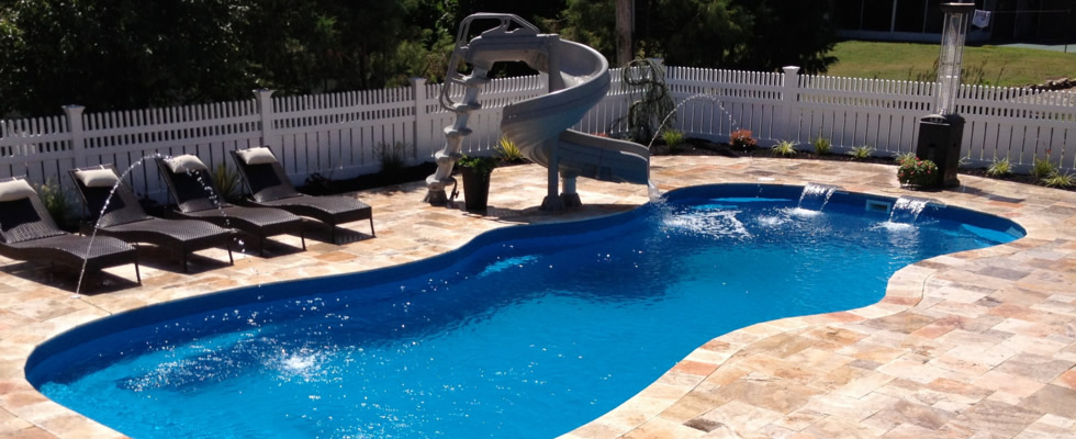 select from our large fiberglass pool database - Above Ground Fiberglass Swimming Pools